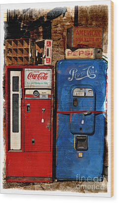 Pepsi Wood Print by Mary Machare