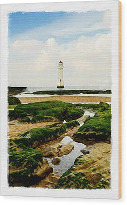 Perch Rock Lighthouse Wood Print