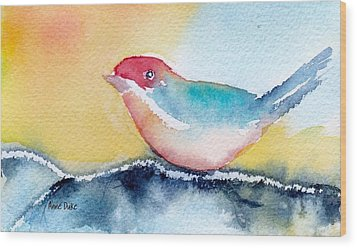 Wood Print featuring the painting Perching by Anne Duke