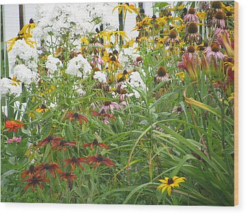 Wood Print featuring the photograph Perennial Garden 3 by Margaret Newcomb