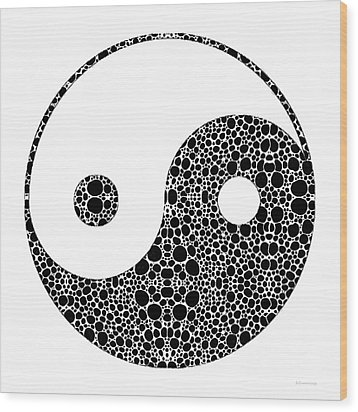 Perfect Balance 1 - Yin And Yang Stone Rock'd Art By Sharon Cummings Wood Print by Sharon Cummings