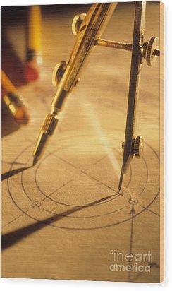 Perfect Circle Wood Print by Novastock