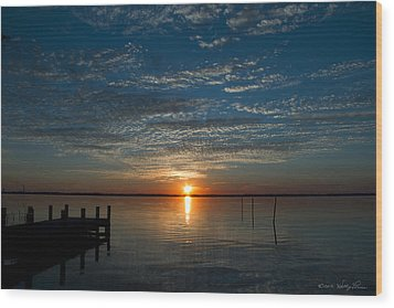 Wood Print featuring the photograph Perfect Ending by Kathy Ponce