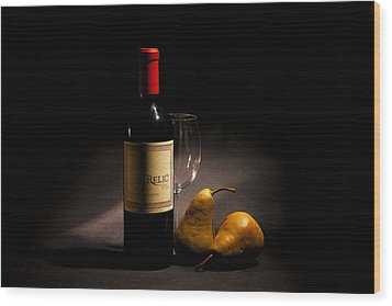 Perfect Pairing Wood Print by Peter Tellone