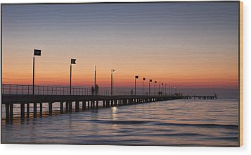 Wood Print featuring the photograph Perfect Sunset by Kim Andelkovic