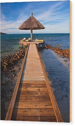 Perfect Vacation Wood Print by Adam Romanowicz