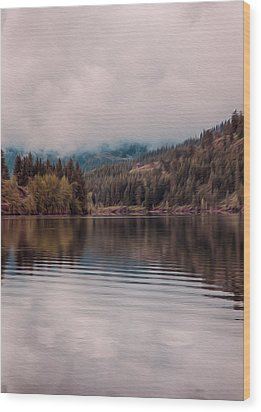 Perfectly Cloudy Lake Wood Print by Omaste Witkowski