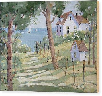 Perfectly Peaceful Nantucket Wood Print by Joyce Hicks