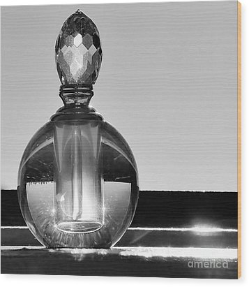 Wood Print featuring the photograph Perfume Bottle Inversion by Lilliana Mendez
