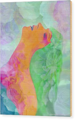Wood Print featuring the digital art Perfume Of Love by Martina  Rathgens