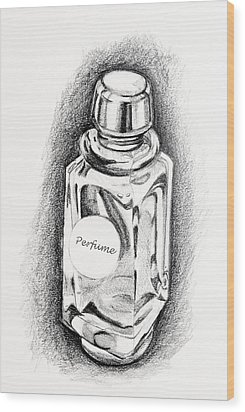 Perfume Bottle Wood Print by Vizual Studio