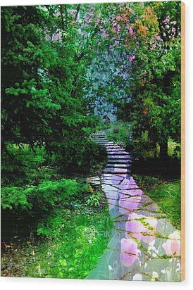 Perhaps It Will Come Wood Print by Shirley Sirois