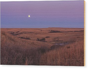 Perigee Moon Wood Print by Scott Bean