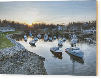 Perkins Cove Wood Print by Eric Gendron
