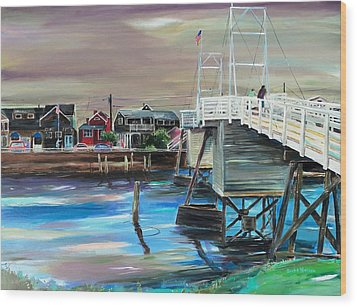 Perkins Cove Maine Wood Print by Scott Nelson