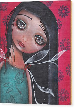 Perla Wood Print by  Abril Andrade Griffith