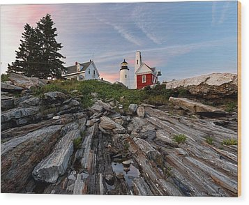 Permaquid At Twilight Wood Print