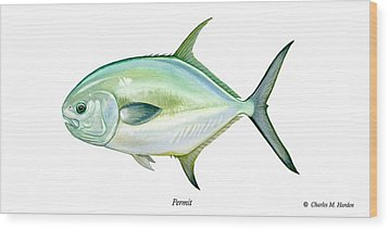 Permit Wood Print by Charles Harden