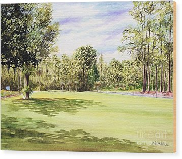 Perry Golf Course Florida  Wood Print by Bill Holkham