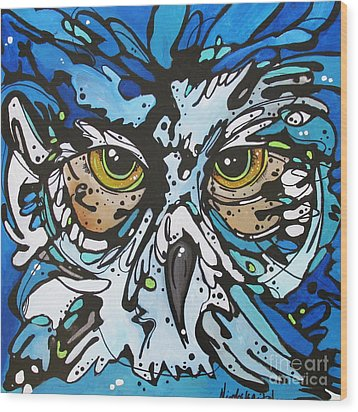 Wood Print featuring the painting Perry by Nicole Gaitan