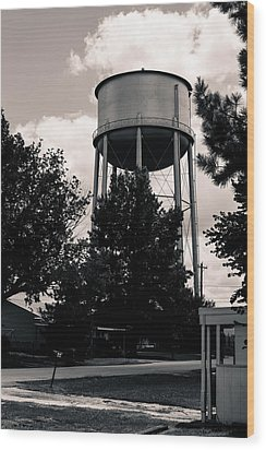 Perry Water Tower  Wood Print