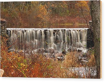 Perryville Dam Rehoboth Ma Wood Print by Butch Lombardi