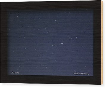 Perseid Meteor Wood Print by PJQandFriends Photography