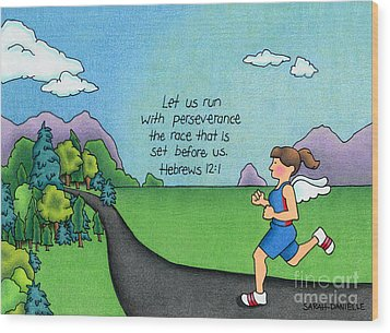 Perseverance Wood Print by Sarah Batalka
