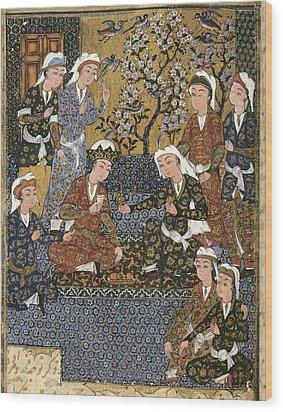 Persian Manuscript, 1650. Court Wood Print by Everett
