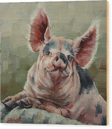 Personality Pig Wood Print