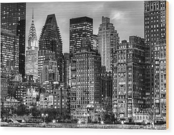 Perspectives Bw Wood Print by JC Findley