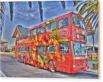 Perth Tour Bus Wood Print