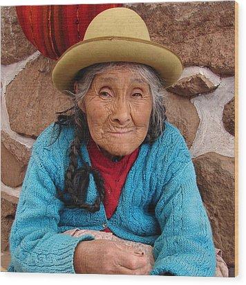 Wood Print featuring the photograph Peruvian Beauty by Ramona Johnston