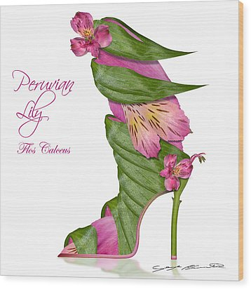 Peruvian Lily Flos Calceus Wood Print by Blanchette Photography