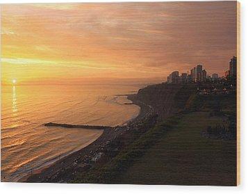 Peruvian Sunset Wood Print