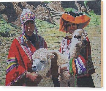 Peruvians Wood Print