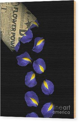 Petal Chips Wood Print by Christian Slanec