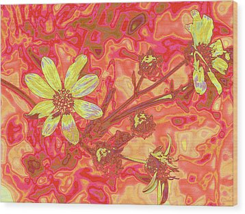 Petalia Wood Print by Wendy J St Christopher