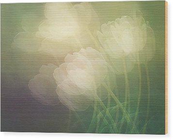 Petals In The Wind Wood Print