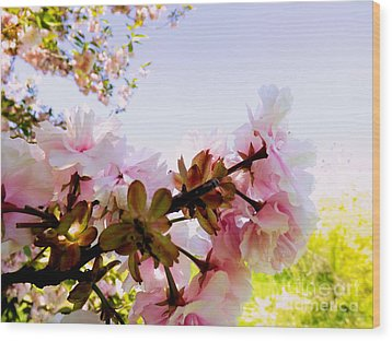 Petals In The Wind Wood Print by Robyn King