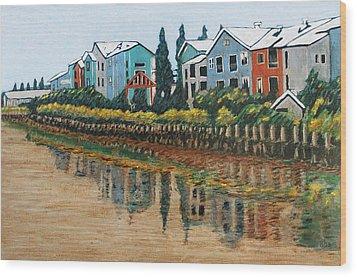 Petaluma Basin Street Wood Print