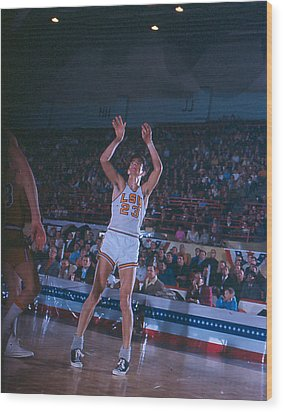 Pete Maravich Follow Through Wood Print by Retro Images Archive
