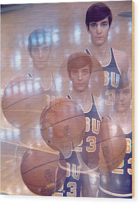 Pete Maravich Kaleidoscope Color 2 Wood Print by Retro Images Archive