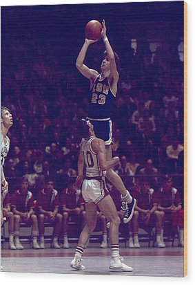 Pete Maravich Leaning Jumper Wood Print by Retro Images Archive