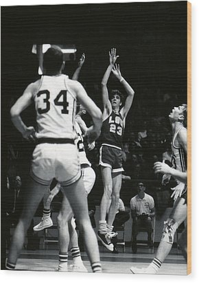 Pete Maravich Shooting Jumper Wood Print by Retro Images Archive
