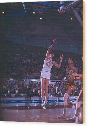 Pete Maravich Shot From The Corner Wood Print by Retro Images Archive
