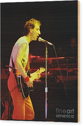 Pete Townsend Of The Who At Oakland Ca 1980 Wood Print