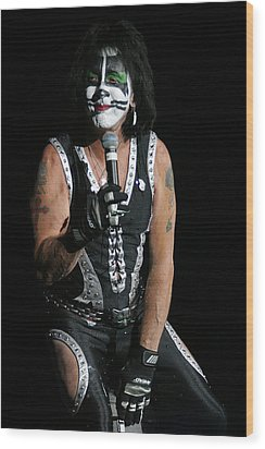Wood Print featuring the photograph Peter Criss - Kiss by Don Olea