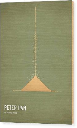 Peter Pan Wood Print by Christian Jackson
