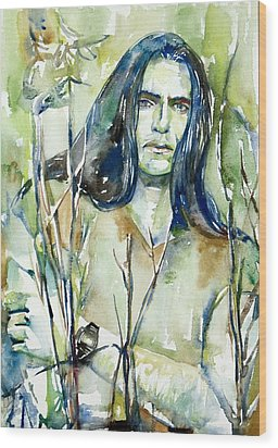 Peter Steele Portrait.1 Wood Print by Fabrizio Cassetta